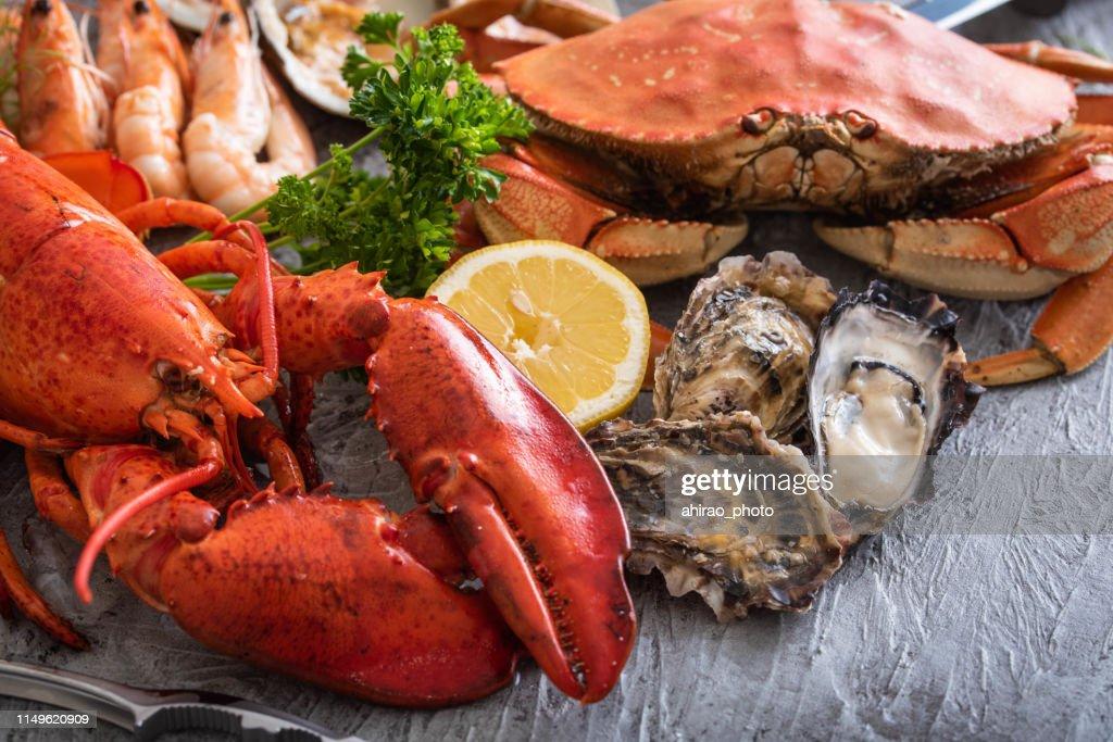 assorted seafood image : Stock Photo