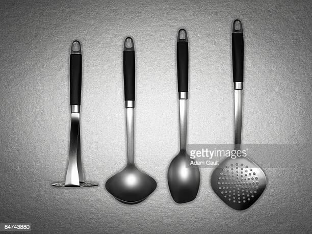 Assorted set of kitchen utensils
