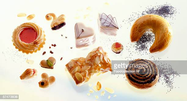 Assorted small cakes and petit fours
