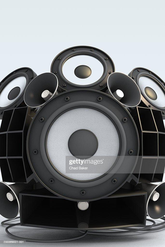Assorted speakers (Digital) : Foto stock