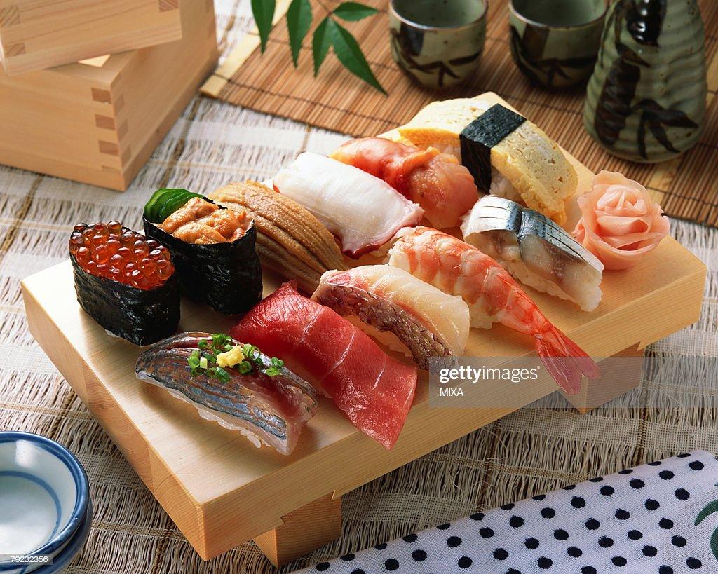 Assorted sushi : Stock Photo