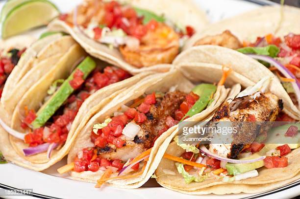 Assorted tacos