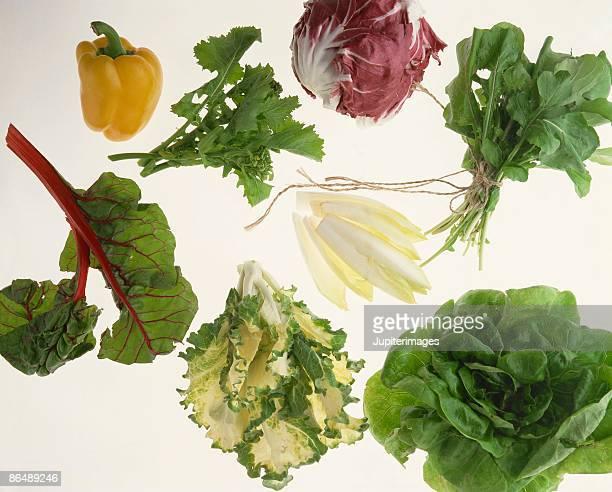 assorted vegetables - feuille de pissenlit photos et images de collection