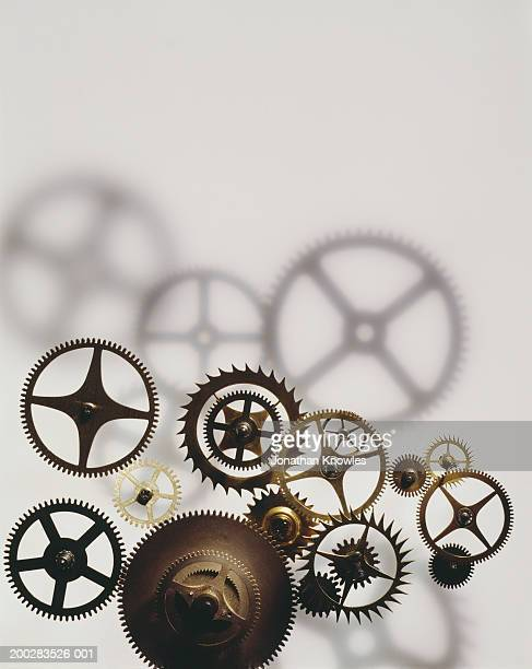 assorted wrist watch cogs, close-up - watch timepiece stock pictures, royalty-free photos & images