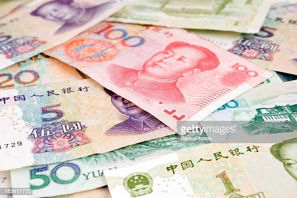 Assorted Yuan Denominations of Chinese Renminbi