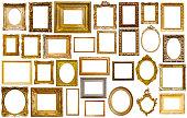 assortment of art frames
