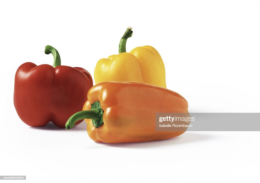 Assortment of bell peppers, close-up : Stockfoto