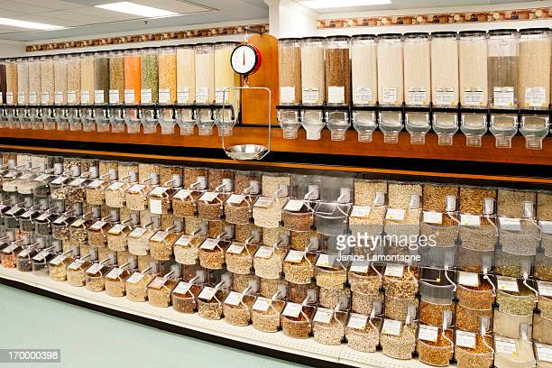Assortment of bulk food dispensers