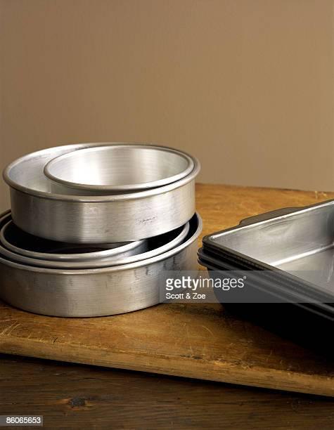 Assortment of cake pans
