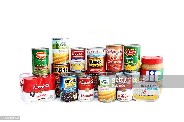 Assortment of canned foods