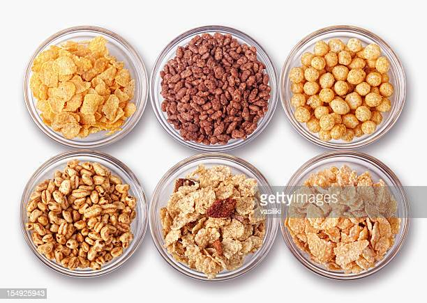 Assortment of cereals
