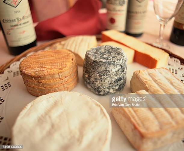 assortment of cheeses - eric van den brulle stock pictures, royalty-free photos & images