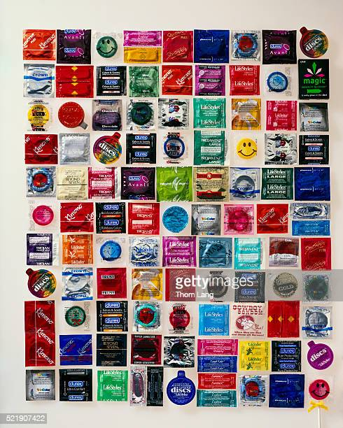 assortment of condoms - rubber stock pictures, royalty-free photos & images
