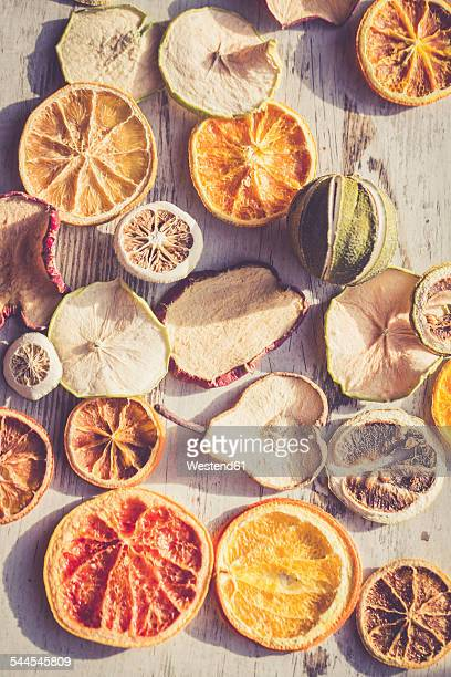 Assortment of dried slices of fruit