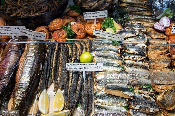 Assortment of fish for sale