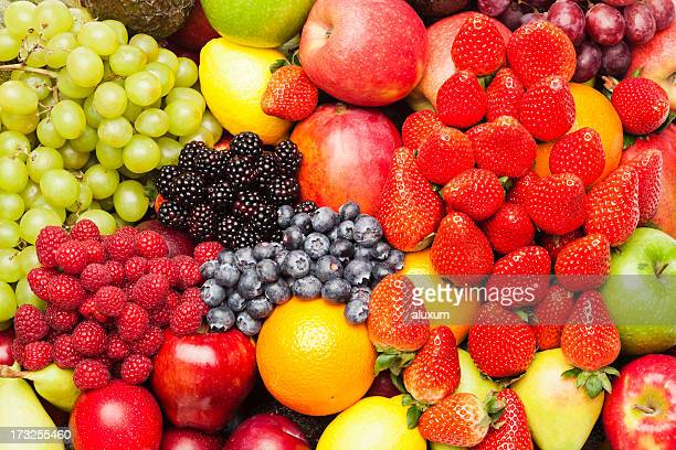 assortment of fruits - freshness stockfoto's en -beelden