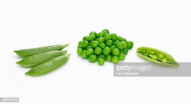 Assortment of green peas