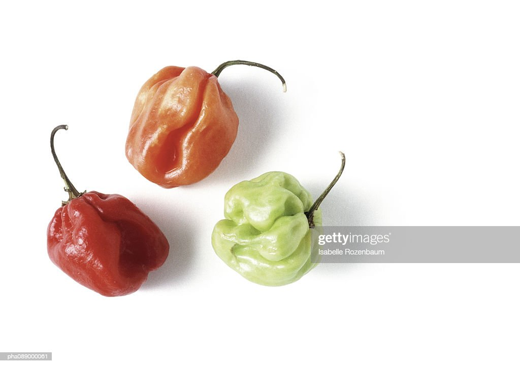 Assortment of hot peppers : Stockfoto