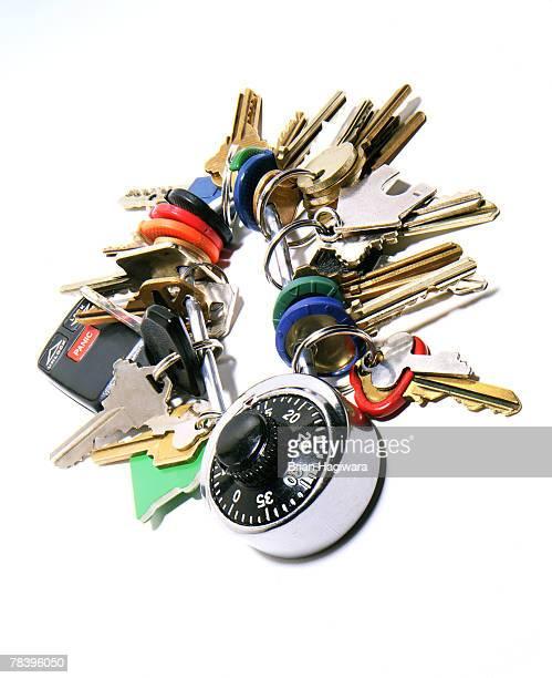 assortment of keys on ring