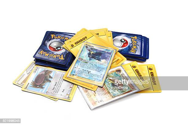 Assortment of Pokemon trading cards