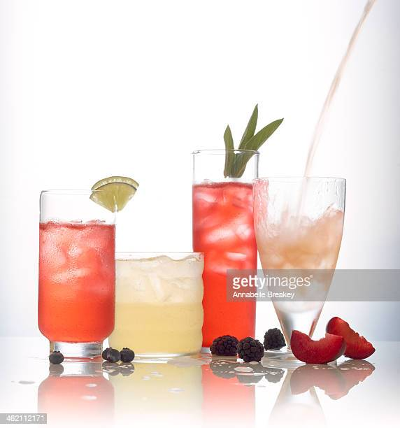 Assortment of Sparkling Water Juice Cocktails