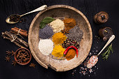 assortment of spices, tradition and culture
