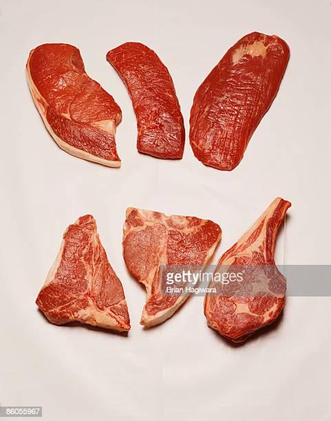 Assortment of steak