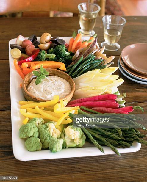 Assortment of vegetables and dip