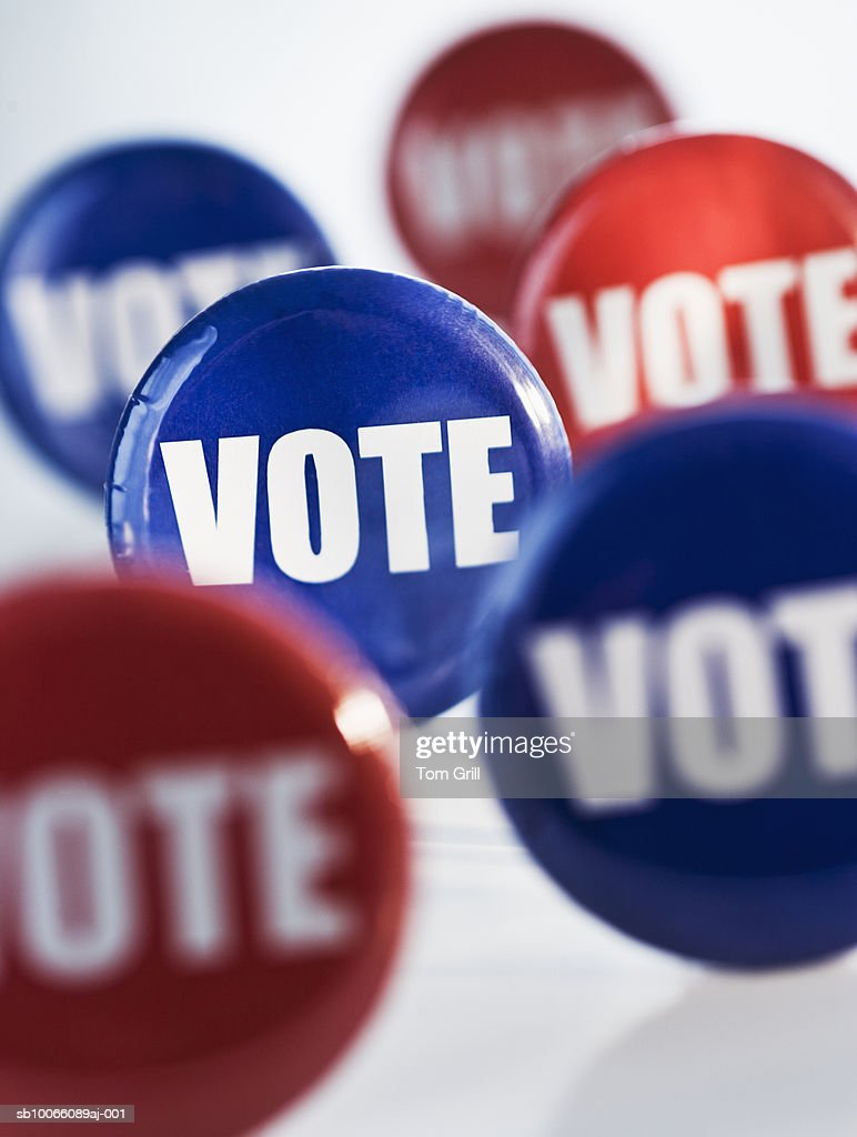 Assortment of 'vote' badges : Stock Photo