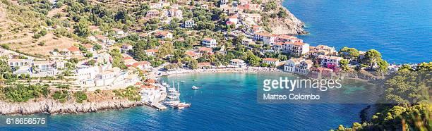 Assos harbor on the island of Kefalonia