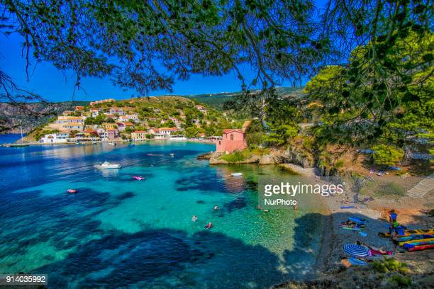 Assos or Asos village in Kefalonia island in Greece Asos is a little fishing village located on the west coast of the island with 100 inhabitants It...