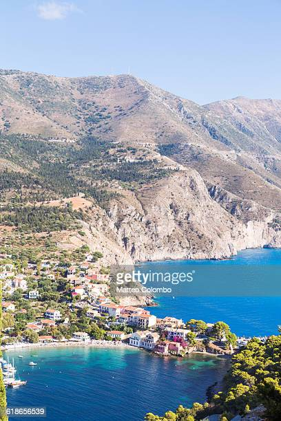 Assos town on the island of Kefalonia, Greece