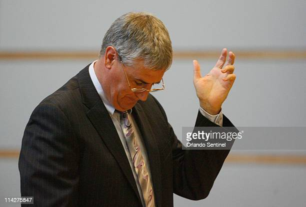 Asst State Attorney Jeff Ashton reacts after nearly calling a juror by name while during back strikes in jury selection for Casey Anthony trial at...
