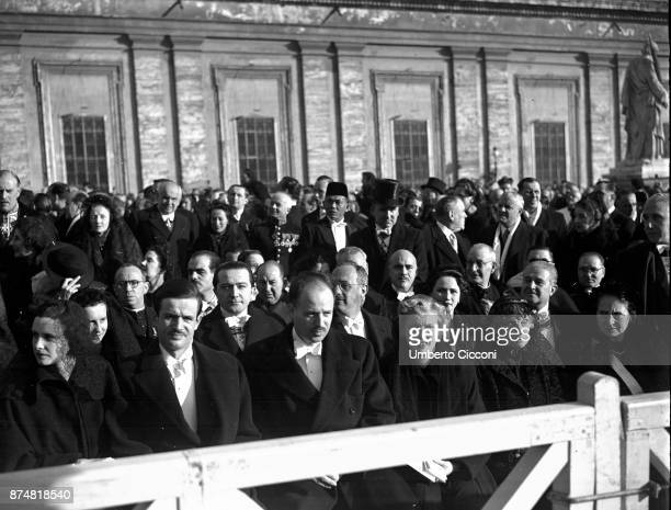 Assumption of Mary ceremony Vatican 1950 Giulio Andreotti is in the crowd