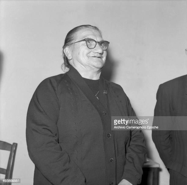 Assunta Casilda, sister of Papa Giovanni, 1958.
