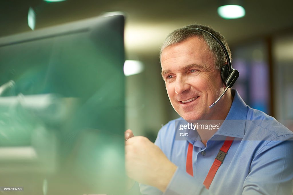 assured call handler : Stock Photo