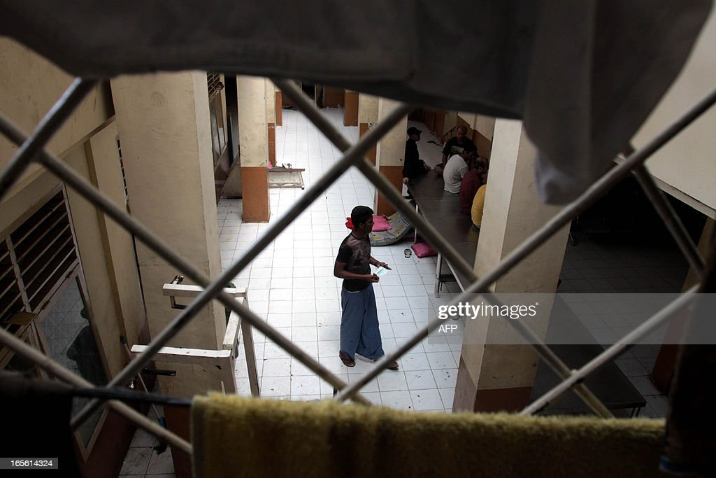 Assylum Seekers Are Pictured Inside A Detention Centre Of The Medan City Immigration Offices In North Sumatra Province On April 5 2013 Where A Group Of