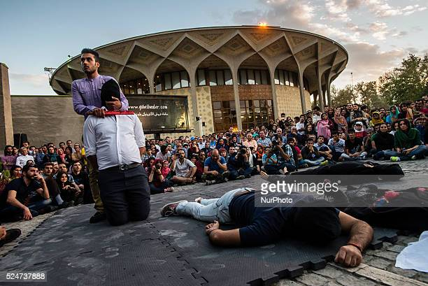 Assyrian pianist Hanibal Yusef and Iranian dancer Yasser Khaseb performed dancing and piano music show Tanahang means bodymusic against violence of...