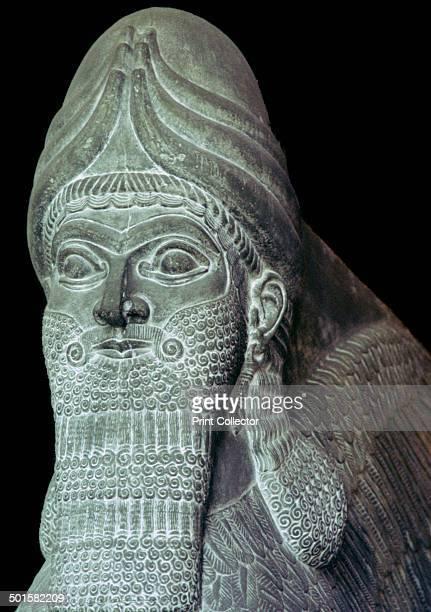 Assyrian Winged Bull detail at the Pergamom Museum Berlin