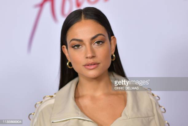 AssyrianBulgarian actress Inanna Sarkis arrives for the premiere of After at the Grove on April 8 2019 in Los Angeles