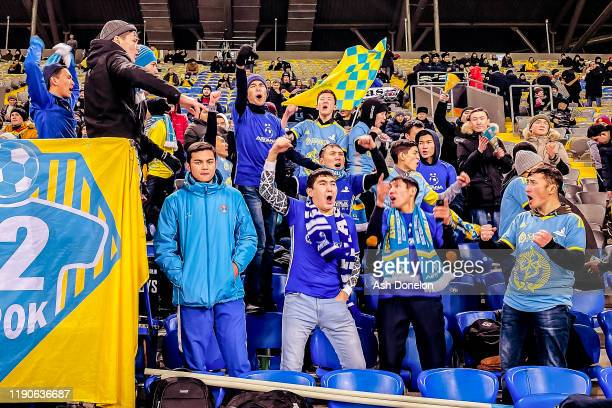 FK Astana fans wait in the stand ahead of the UEFA Europa League group L match between FK Astana and Manchester United at Astana Arena on November 28...