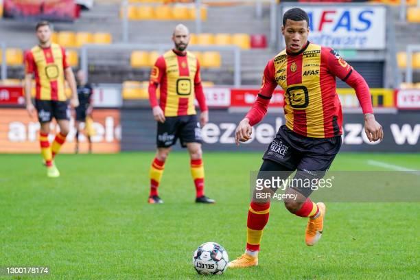 Aster Vranckx of KV Mechelen during the Croky Cup match between KV Mechelen and RWDM at Afas Stadium Achter de Kazerne on February 3, 2021 in...