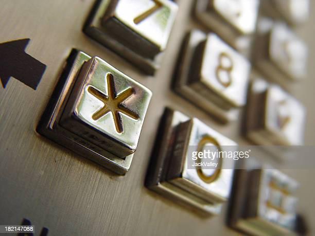 Asterisk on metal numberpad