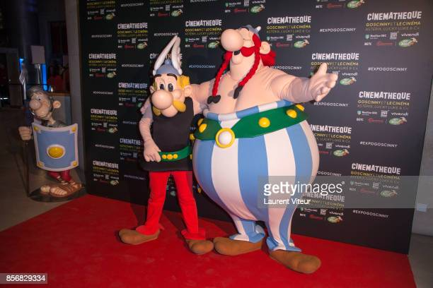 Asterix Obelix attend Goscinny et le Cinema Asterix Luky luke et Cie Exhibition at Cinematheque Francaise on October 2 2017 in Paris France