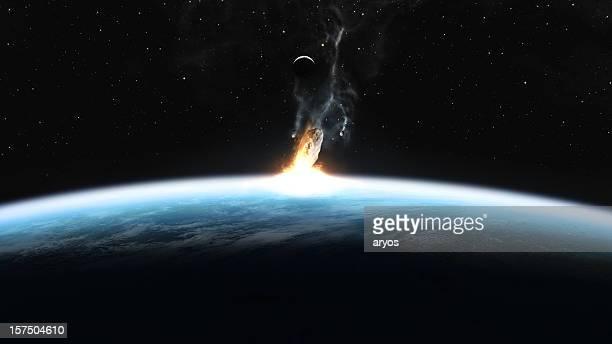 Asteroid Auswirkungen auf Erden