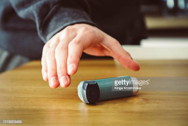 asthma inhaler - reaching stock pictures, royalty-free photos & images