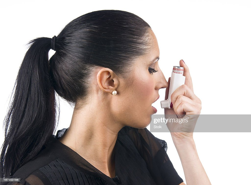 Asthma patient : Stock Photo