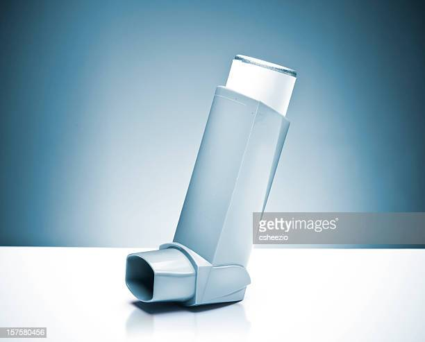asthma pump - asthma inhaler stock pictures, royalty-free photos & images