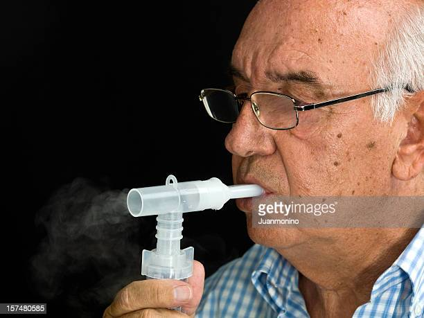 asthma treatment - emphysema stock photos and pictures