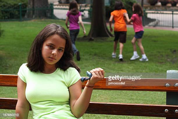 asthmatic preteen - beautiful mexican girls stock photos and pictures